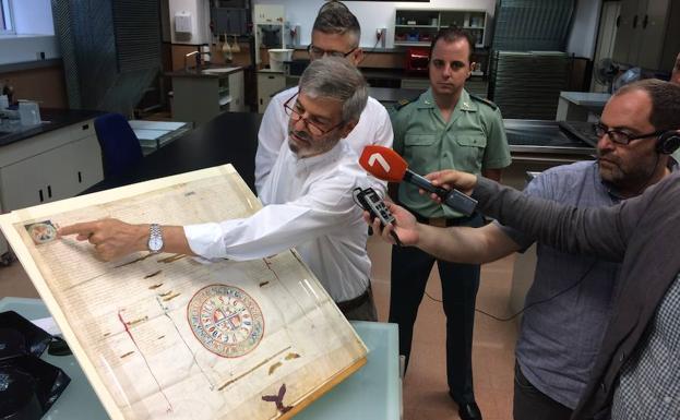 Recuperan un documento del siglo XIII del rey Sancho IV hallado en un anticuario de Murcia IMG_9094-kR5G-U40968483876UB-624x385@La%20Verdad