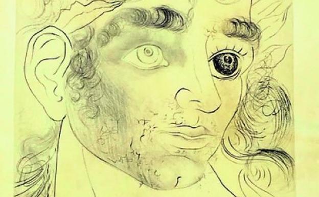 Grabado de Dalí que se podrá ver en la galería La Aurora./