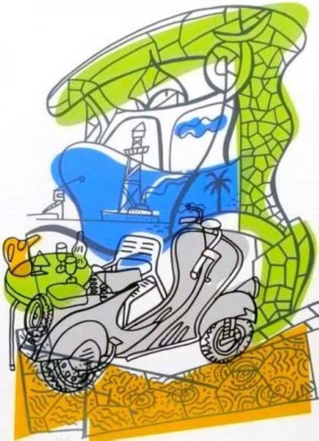 'Oda a Gaudí. Mi Vespa', de Javier Mariscal/