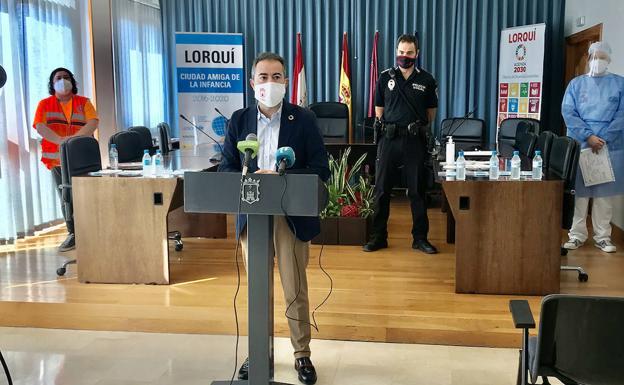 Imagen del alcalde, Joaquín Hernández, este viernes. /AYTO