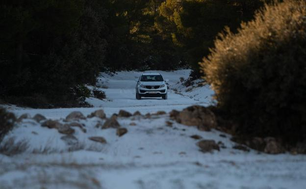 File image of a snowfall in the Moratalla highlands.