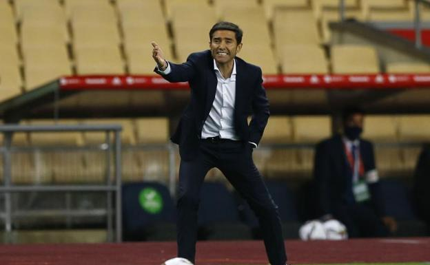 Marcelino, during the Cup final.