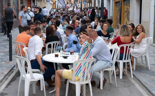 Bar terraces to burst during the last Lorca Fair.