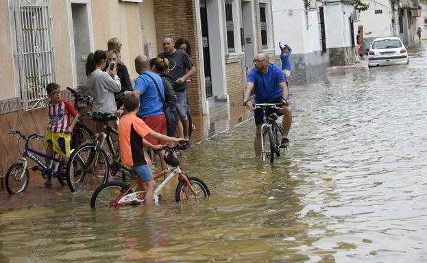 Imagen de archivo de las inundaciones de la DANA de septiembre de 2019 en la pedanía de El Raal.