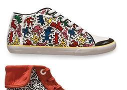 Keith Haring inspira una original línea de calzado  040da1d88e87